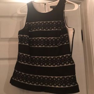 WHBM black and white lace top (part of set!)